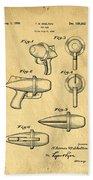 Toy Ray Gun Patent Hand Towel