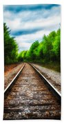 Tracks Through The Woods Hand Towel