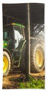 Tractor In The Morning Bath Towel