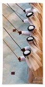 Traditional Emirati Men's Dance  Bath Towel