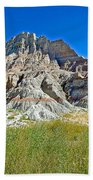 Trailhead For Saddle Pass Trail In Badlands National Park-south Dakota   Bath Towel