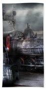 Train - Engine - 1218 - Waiting For Departure Bath Towel