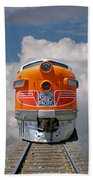 Train In Clouds Bath Towel
