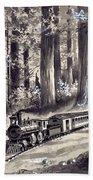 Train In The Redwoods Bath Towel
