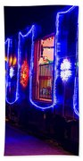 Train Of Lights Bath Towel
