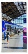 Train Station Marseille France Bath Towel