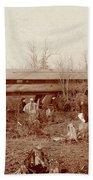 Train Wreck, 1890s Hand Towel
