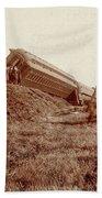 Train Wreck, C1900 Bath Towel