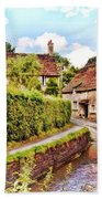 Tranquil Stream Lacock Bath Towel by Paul Gulliver