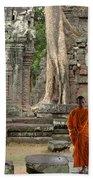 Tranquility In Angkor Wat Cambodia Bath Towel