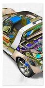 Transparent Car Concept Made In 3d Graphics 2 Bath Towel