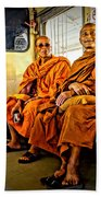 Traveling Monks Hand Towel