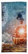 Traveling On Winters Night Hand Towel