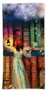 Fairytale Treasure Hunt Book Shelf Variant 2 Bath Towel