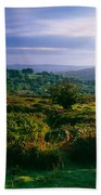 Tree And Plants On A Landscape Bath Towel