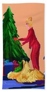 Tree Decorating Bath Towel