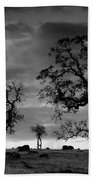 Tree Family In Black And White Bath Towel
