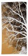 Tree In Abstract Bath Towel