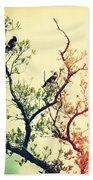 Tree Of Crows II Lights Bath Towel