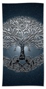 Tree Of Life Nova Blue Bath Towel