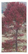 Tree Of Red Bath Towel