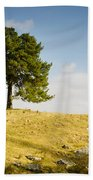 Tree On A Hill Bath Towel