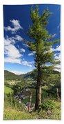 tree over Cordevole valley Bath Towel