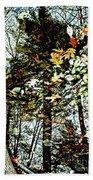 Tree Reflected In Leaves Bath Towel