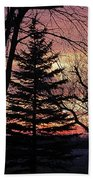 Tree Sunset Bath Towel