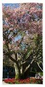 Tree With Pink Flowers Bath Towel