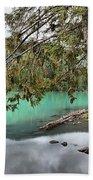 Trees Overhanging Cheakamus Lake Bath Towel