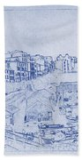 Trenby Bay Blueprint Hand Towel