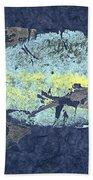 Gyotaku Trevally Bath Sheet by Captain Warren Sellers
