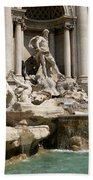Trevi Fountain In Rome Italy Bath Towel
