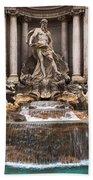Trevi Fountain Bath Towel by John Wadleigh