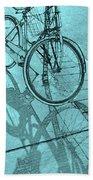 Tri-coloured Bicycle Print Hand Towel