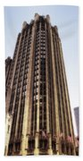 Tribune Tower Facade Bath Towel