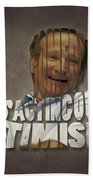 Tribute To Robin Williams Typography Bath Towel