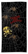 Trick Or Treat Halloween Digital Artwork Bath Towel