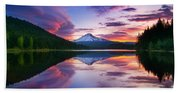 Trillium Lake Sunrise Bath Towel