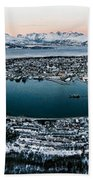 Tromso From The Mountains Bath Towel
