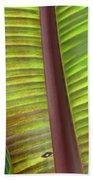 Tropical Banana Leaf Abstract Bath Towel