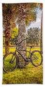 Tropical Bicycle Bath Towel
