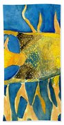 Tropical Fish Art Print Bath Towel