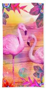 Tropical Flamingo Hand Towel