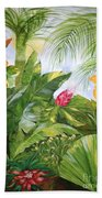 Tropical Garden Bath Towel