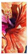 Tropical Hibiscus Bath Towel