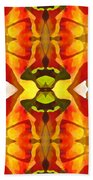 Tropical Leaf Pattern 4 Bath Towel