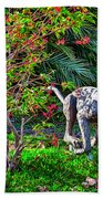 Tropical Mountain Lion Bath Towel