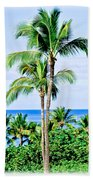 Tropical Palm Trees In Hawaii Bath Towel